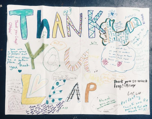 Thank you card to LEAP